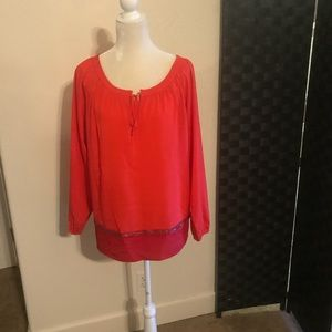 🎉SALE!!! 2-Tone blouse with beads